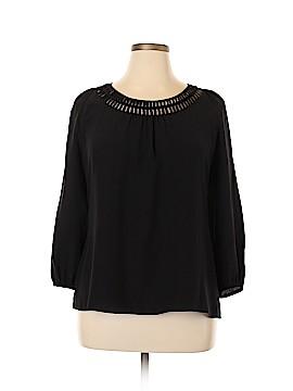 White House Black Market 3/4 Sleeve Silk Top Size XL