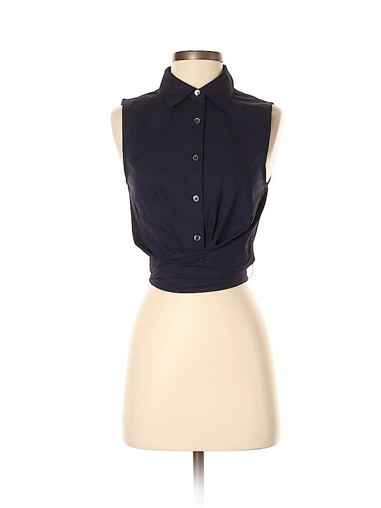 7a786e4781b5c3 Pin it Pin It Button 10 Crosby Derek Lam Women Sleeveless Button-Down Shirt  Size 4