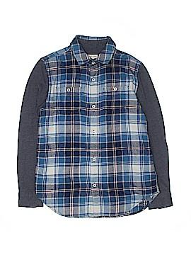 Tucker + Tate Long Sleeve Button-Down Shirt Size 10-12