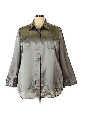 Lane Bryant Long Sleeve Blouse Size 22 (Plus)