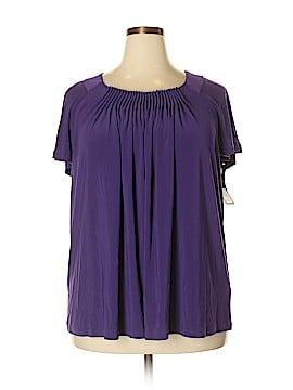 Daisy Fuentes Short Sleeve Top Size 1X (Plus)