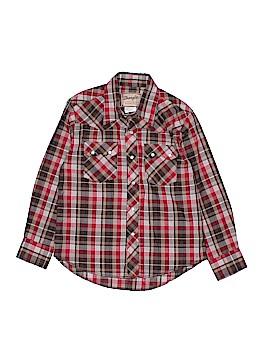 Wrangler Jeans Co Long Sleeve Button-Down Shirt Size M (Kids)