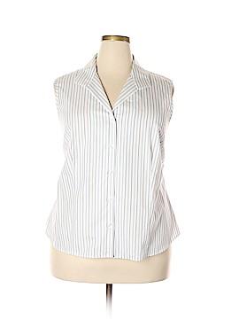 Jones Studio Sleeveless Button-Down Shirt Size 20 (Plus)