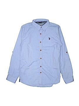 U.S. Polo Assn. Long Sleeve Button-Down Shirt Size 18