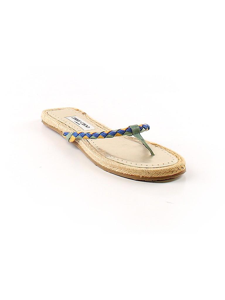 a22760c0f Jimmy Choo Solid Blue Flip Flops Size 40 (EU) - 78% off