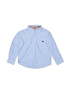 Burberry Long Sleeve Button-Down Shirt Size 3
