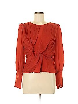 Aryn K. Long Sleeve Silk Top Size M