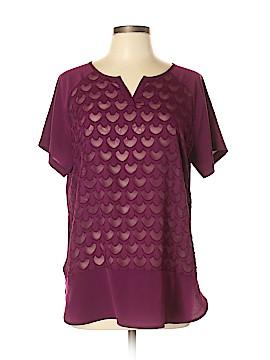 Van Heusen Short Sleeve Blouse Size L