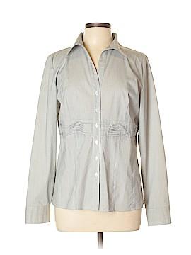 Autograph Long Sleeve Button-Down Shirt Size L