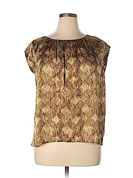 Jones New York Collection Short Sleeve Silk Top Size 14