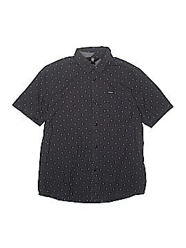 Volcom Short Sleeve Button-Down Shirt Size X-Large (Kids)