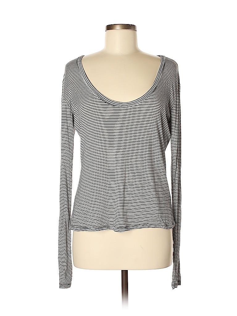17b7cf8623 Brandy Melville 100% Cotton Stripes Black Long Sleeve T-Shirt One ...