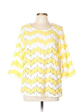 Erin London 3/4 Sleeve Top Size L