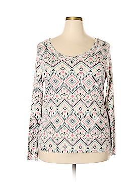 SONOMA life + style Long Sleeve T-Shirt Size 1X (Plus)
