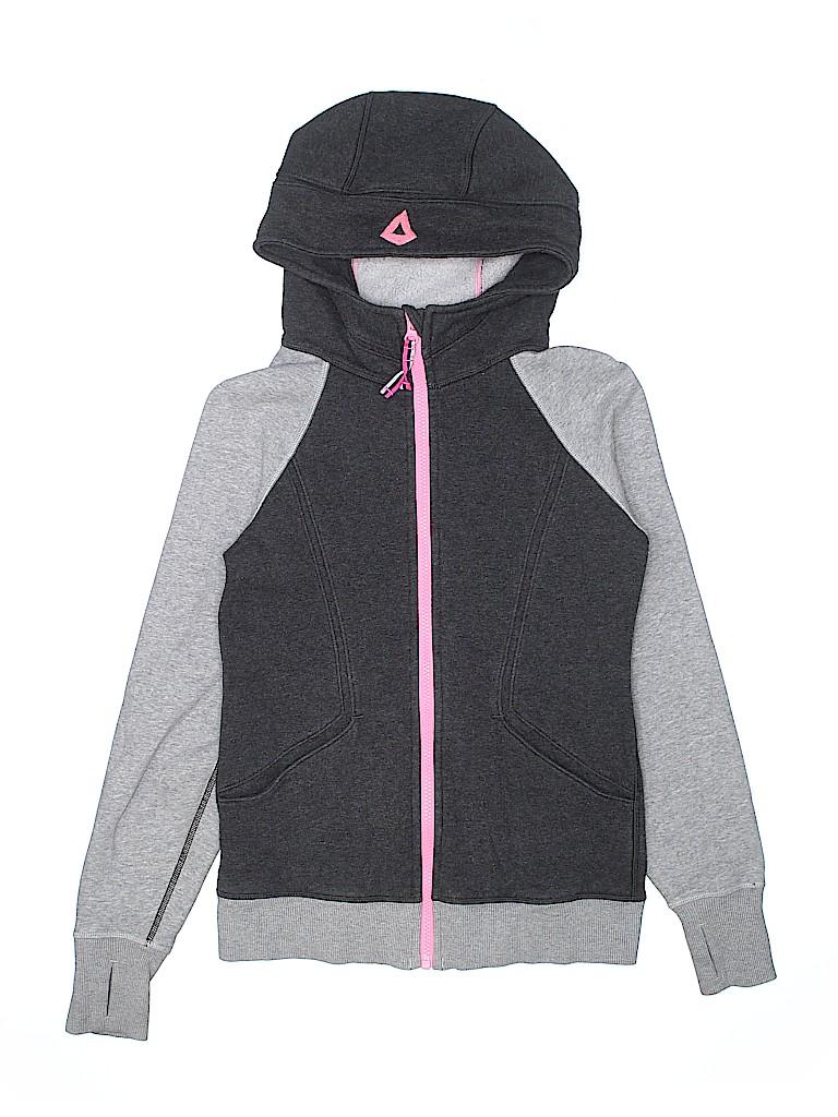 74fa89bb119e7b Ivivva Color Block Gray Zip Up Hoodie Size 12 - 67% off   thredUP