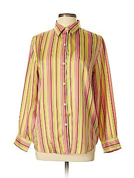 Jones New York Signature Long Sleeve Silk Top Size L