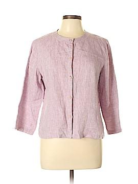 Eileen Fisher 3/4 Sleeve Button-Down Shirt Size L