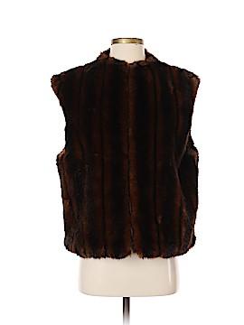 Nine West Faux Fur Vest Size L