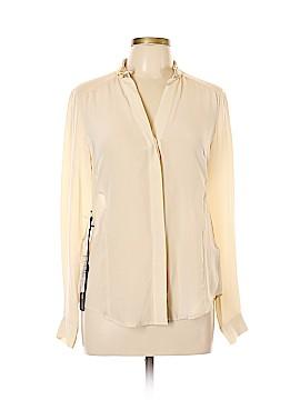 Bebe Long Sleeve Silk Top Size S