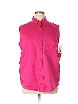 Rafaella Sleeveless Button-Down Shirt Size 16