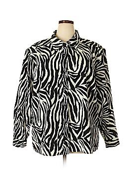 Susan Graver Long Sleeve Blouse Size 3X (Plus)