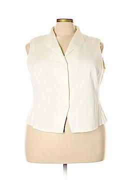 Elisabeth by Liz Claiborne Vest Size 24 (Plus)