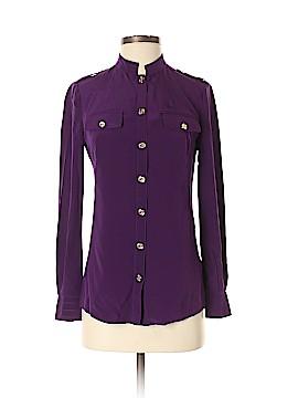 Tory Burch Long Sleeve Silk Top Size 0