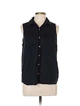 MICHAEL Michael Kors Sleeveless Button-Down Shirt Size L