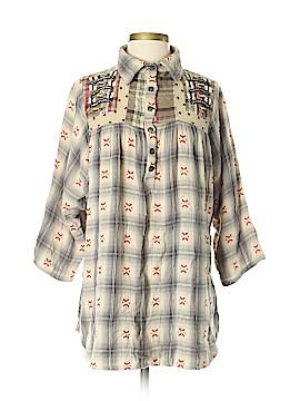 Derhy Short Sleeve Button-Down Shirt Size S
