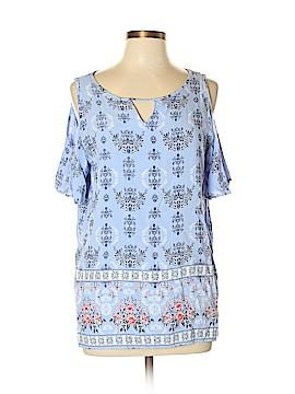 St. John's Bay Short Sleeve Blouse Size L (Tall)