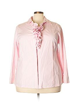 Lane Bryant Long Sleeve Button-Down Shirt Size 24 (Plus)