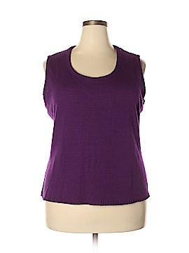 D&Co. Sweater Vest Size 2X (Plus)