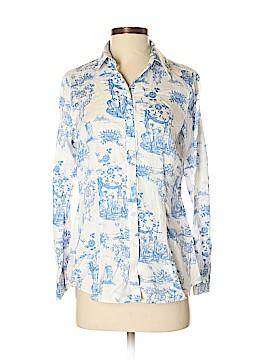Foxcroft Long Sleeve Button-Down Shirt Size 4