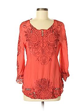 Baraschi 3/4 Sleeve Silk Top Size 6