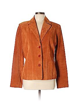 Jones New York Leather Jacket Size L