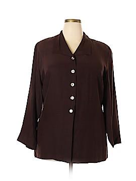 Elisabeth by Liz Claiborne 3/4 Sleeve Silk Top Size 20 (Plus)