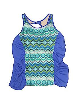 Tropical Escape Swimsuit Top Size 18 (Plus)