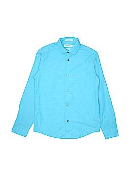 Calvin Klein Long Sleeve Button-Down Shirt Size 12