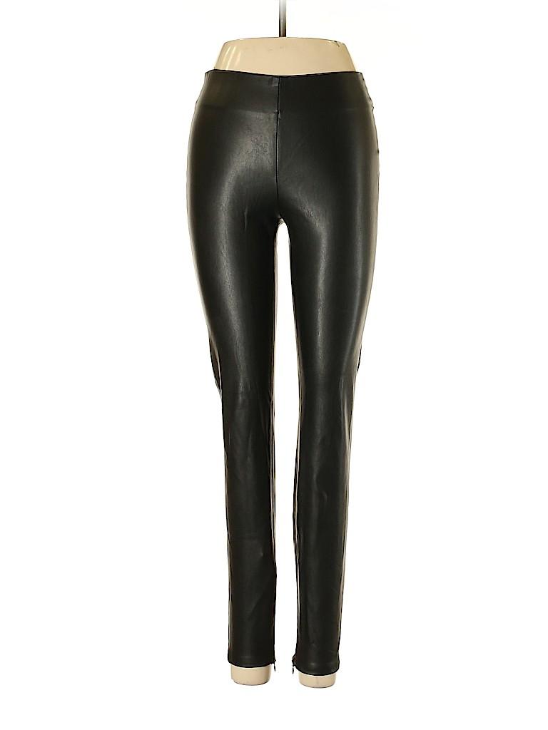 8cce909fb6 Zara Basic 100% Polyurethane Solid Black Faux Leather Pants Size S ...