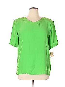 Saks Fifth Avenue Short Sleeve Silk Top Size 14