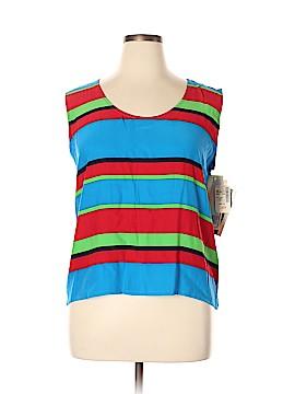 Saks Fifth Avenue Sleeveless Silk Top Size 14