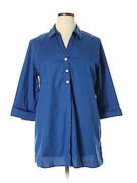 Foxcroft 3/4 Sleeve Button-Down Shirt Size 16