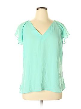 7th Avenue Design Studio New York & Company Short Sleeve Blouse Size XL