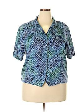 Cricket Lane Short Sleeve Button-Down Shirt Size 18 (Plus)