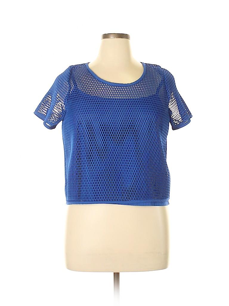 ELOQUII Women Short Sleeve Blouse Size 18 (Plus)