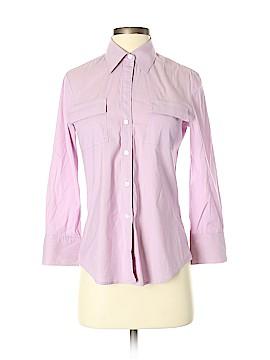 Theory Sleeveless Button-Down Shirt Size S