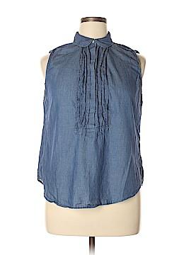 Ann Taylor LOFT Sleeveless Button-Down Shirt Size XL