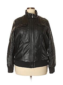 YMI Faux Leather Jacket Size 3X (Plus)