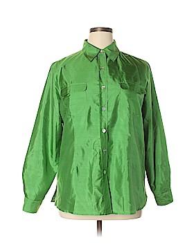 Silk Land Long Sleeve Silk Top Size XL