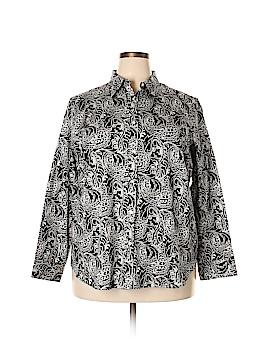 Chaps Long Sleeve Button-Down Shirt Size 2X (Plus)